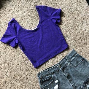 Forever 21 purple crop top